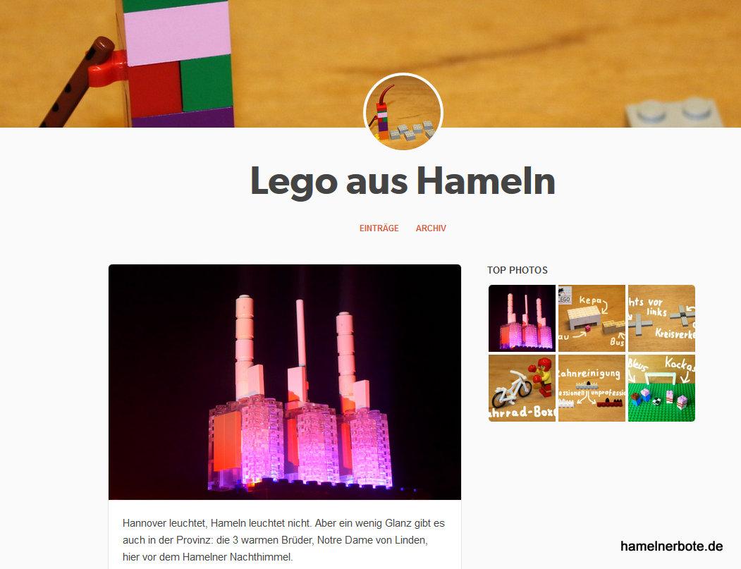 Neue Hamelner Legobilder (Fahrradboxen, Kreisverkehr, Kepa und Hamelner leuchten)