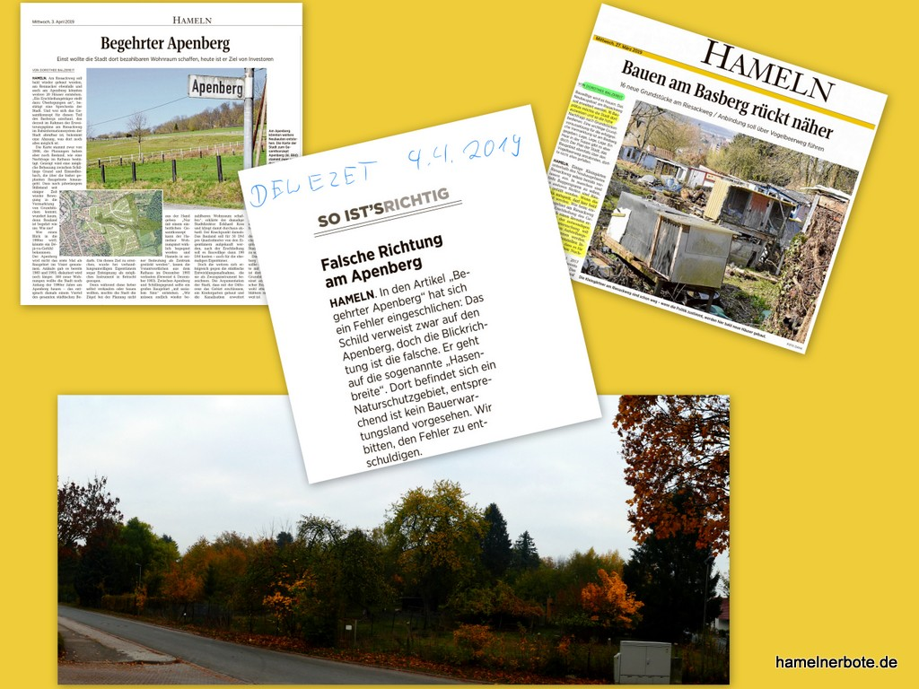 Fotofehler – DEWEZET Baugebietsberichterstattung Apenberg