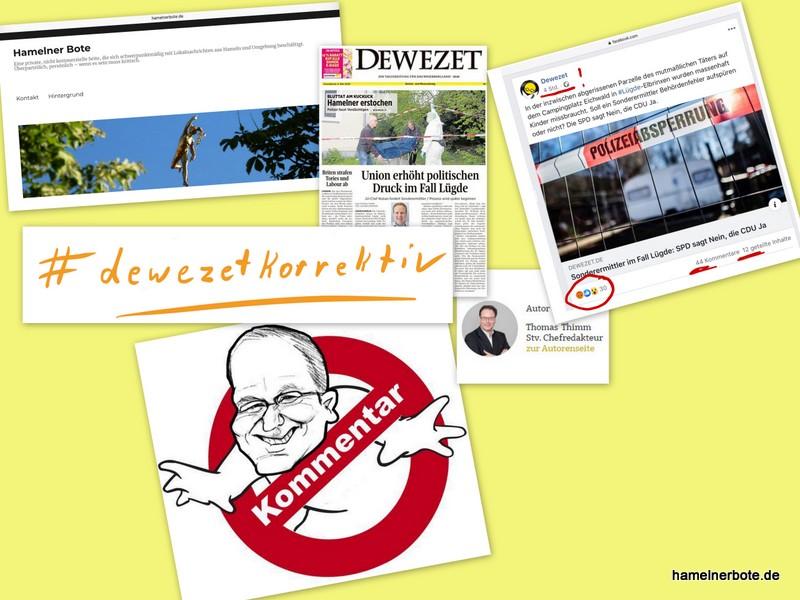 Zum Tag der Pressefreiheit: Thimm (DEWEZET) gegen Bartels (Landrat) – Lügde #dewezetkorrektiv