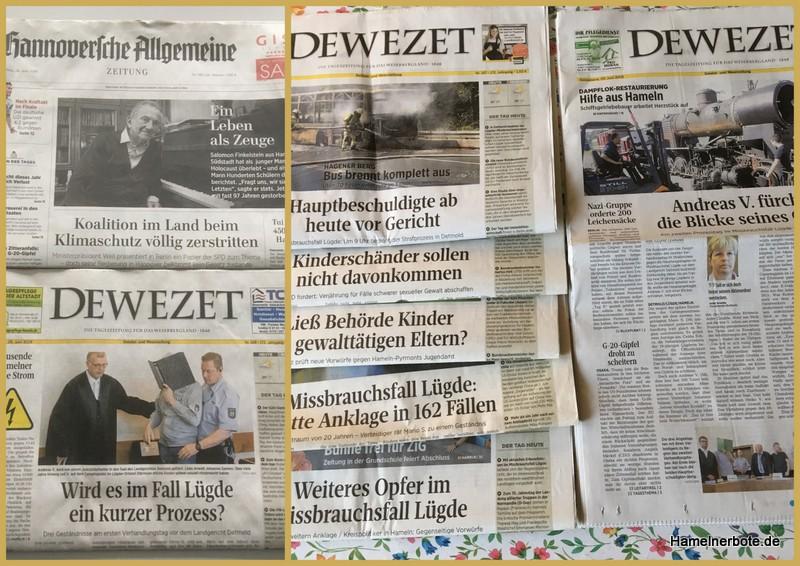 Bericht und Nebenwirkung – #dewezetkorrektiv Titelseitenberichterstattung Lügde.