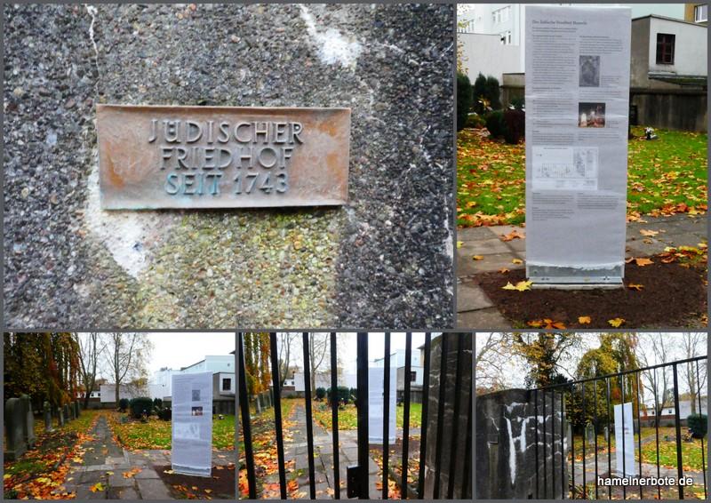 Infotafel jüdischer Friedhof Scharnhorststraße –
