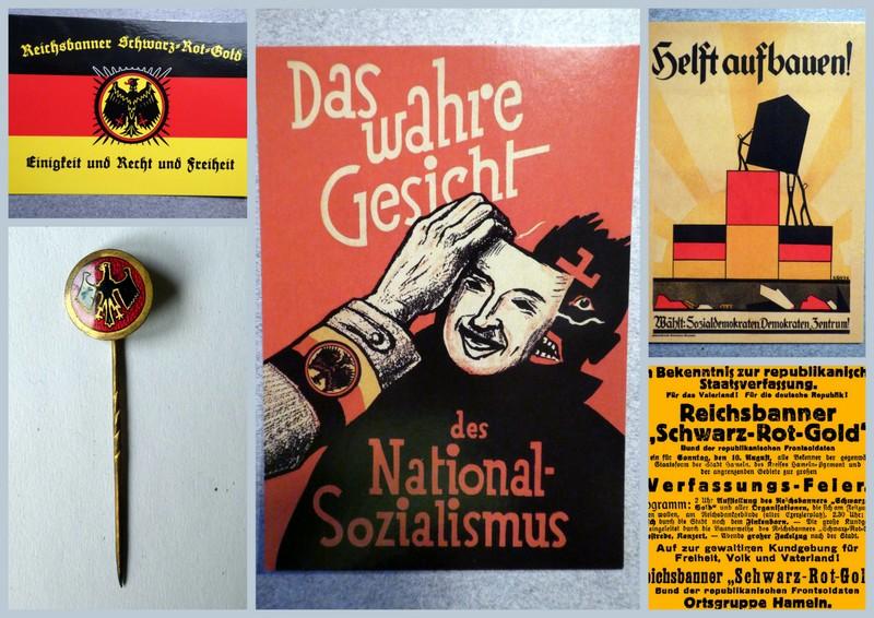 Ausstellungsidee für Hameln – Reichsbanner schwarz-rot-gold.