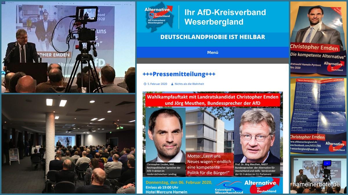 Die AfD im Mercure Hotel Hameln – Wahlkampfauftakt – Kurzbericht: