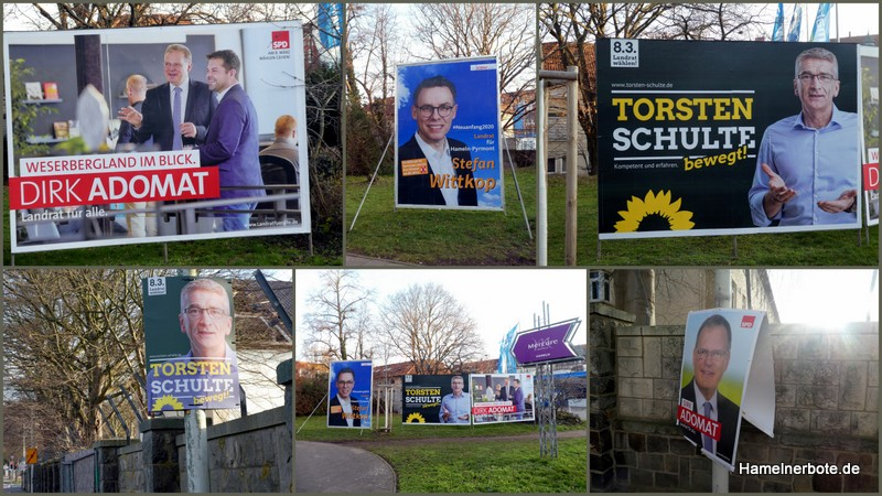Wahlplakate. Sammlung Landratswahl Hameln-Pyrmont 2020