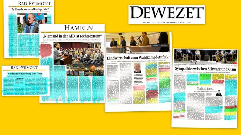 Eine Bewertung der aktuellen DEWEZET-Berichterstattung zur Landratswahl ist schwierig.