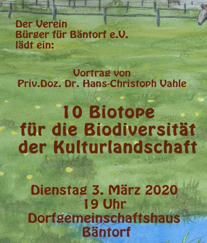 Veranstaltungstipp: 10 Biotope für die Biodiversität der Kulturlandschaft