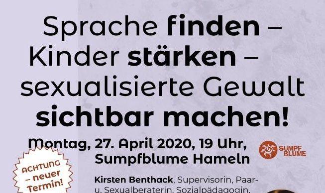 """Veranstaltungshinweis: """"Sprache finden – Kinder stärken – sexualisierte Gewalt sichtbar machen!"""""""