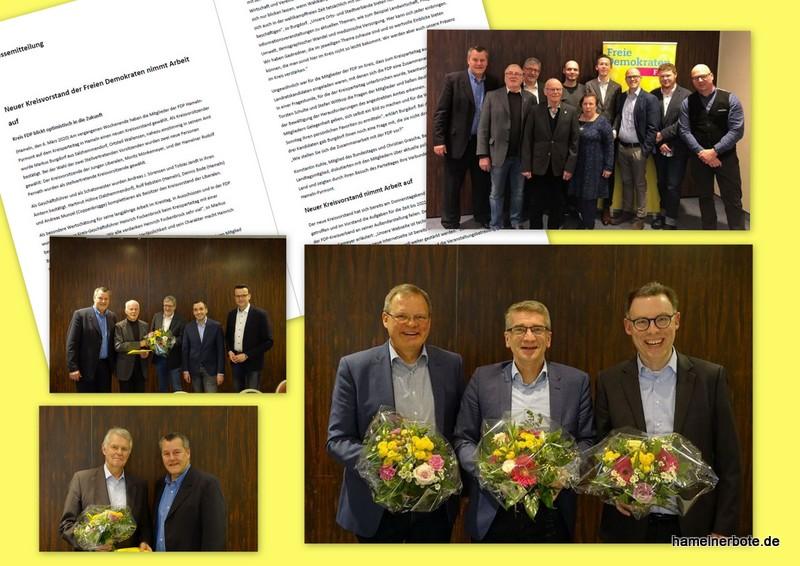 Pressemitteilung der Partei FDP: Neuer Kreisvorstand der Freien Demokraten nimmt Arbeit auf. Ehrung für Heinrich Fockenbrock!