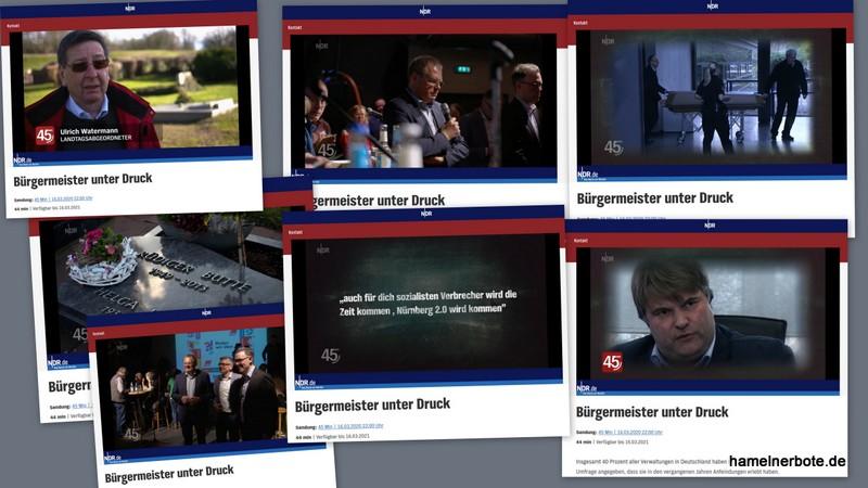 """NDR Film mit Bezug zu Hameln: """"Bürgermeister unter Druck"""""""