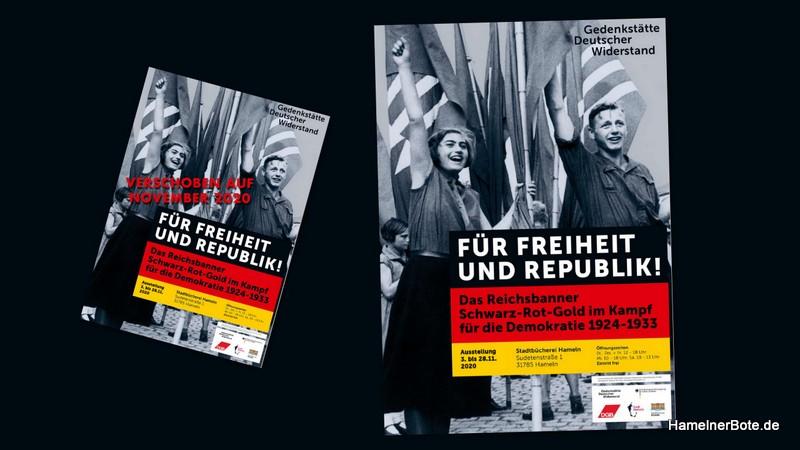 Ausstellung zum Reichsbanner Schwarz Rot Gold kommt im November nach Hameln