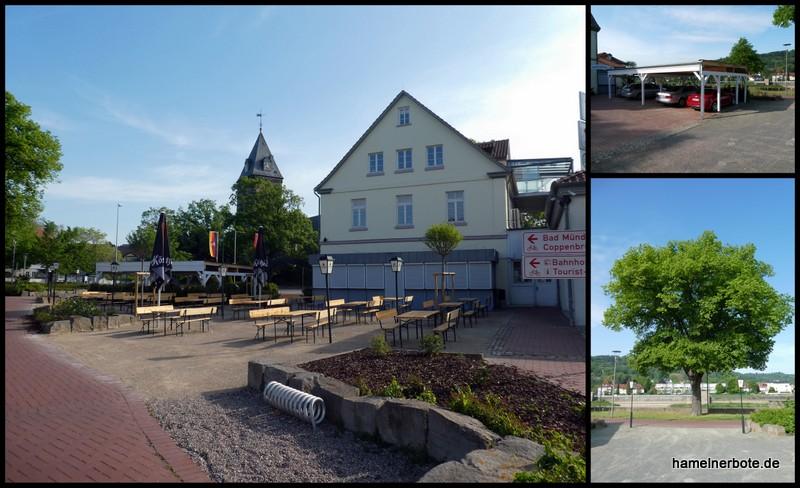 Baumfällungen und Nachpflanzungen Hotel Stadt Hameln.