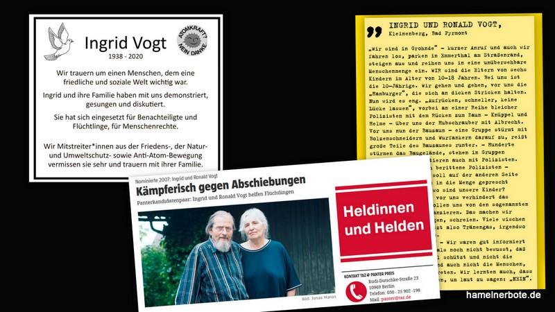 Abschied von Ingrid Vogt