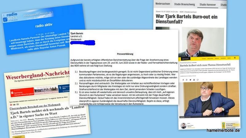 Zur Meinungsbildung: persönliche Erklärung von Tjark Bartels zum Thema Dienstunfall. Dazu ein Medienspiegel Stand 1.7.2020.