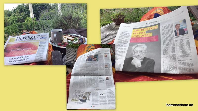 Tagesgedanken Lokalzeitung vom 6.7.2020
