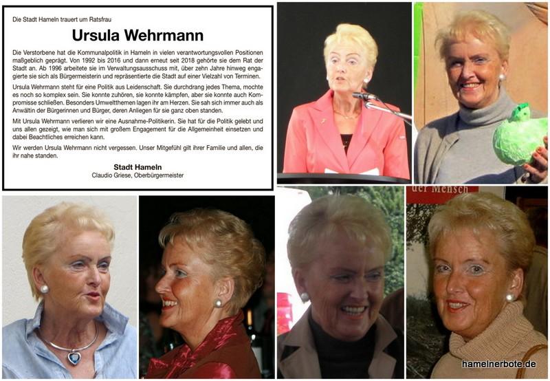 Ursula (Uschi) Wehrmann – Erinnerungsseite für eine engagierte Hamelner Ratsfrau und Umweltschützerin.
