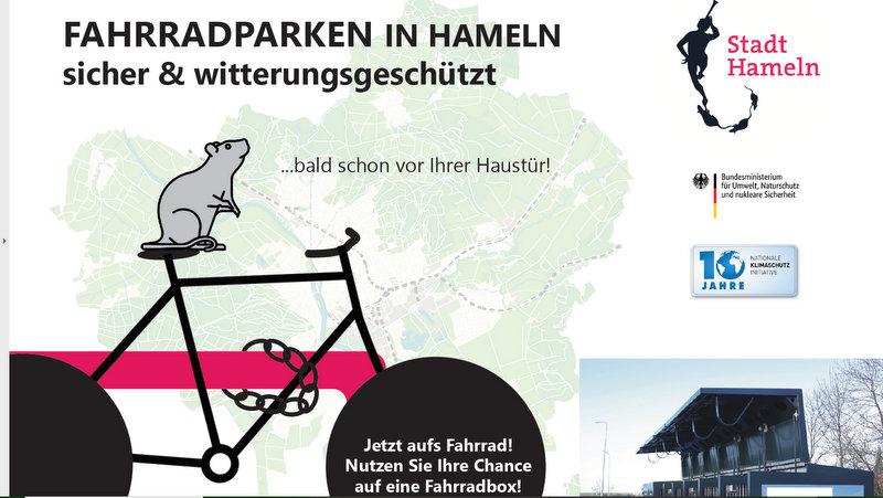 Minigaragen für Hamelns Fahrradparker