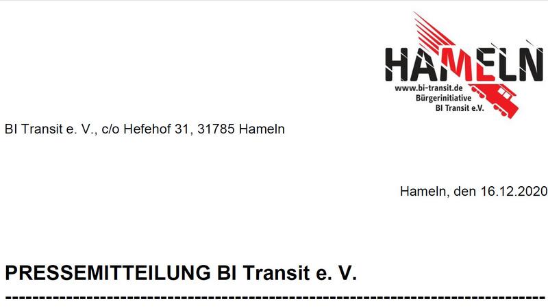 BI Transit trägt Positionspapier zur Elektrifizierung Elze-Hameln nicht mit.