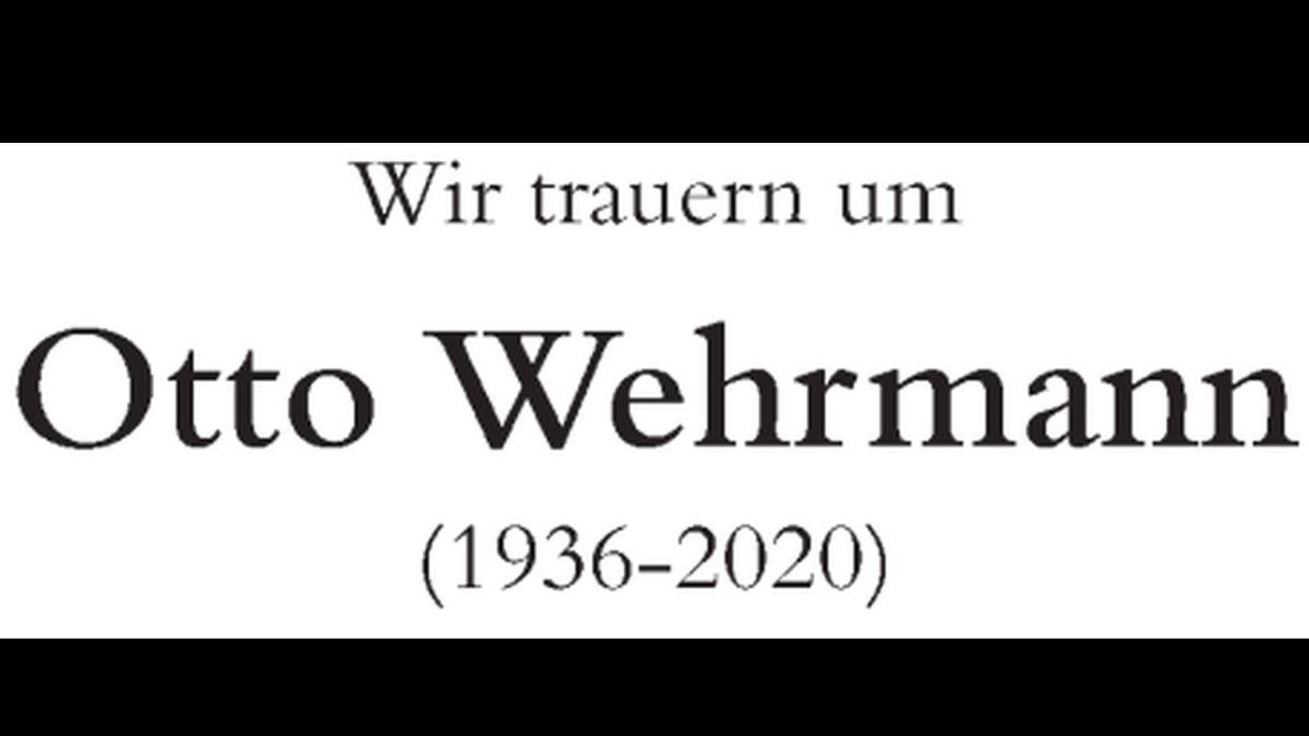Abschied von Otto Wehrmann