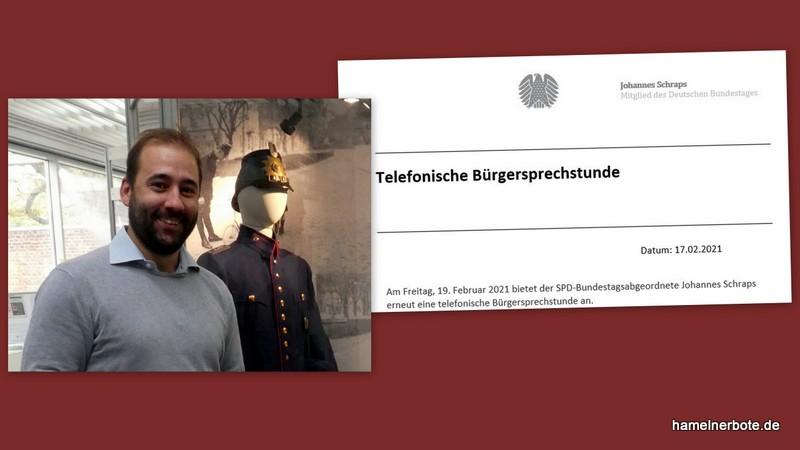 MdB Johannes Schraps lädt zur telefonischen Bürgersprechstunde ein.