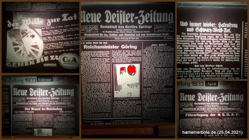 1933: Neue Deister-Zeitung – Kreisblatt des Kreises Springe. Dokumente der Zeitgeschichte: