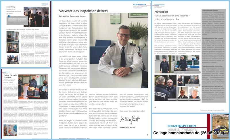 Sicherheitsbericht 2020 der Polizeidirektion Göttingen – Fachteil: Polizeiinspektion Hameln-Pyrmont/Holzminden