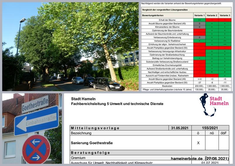 Goethestraße neu: Fakten, Impressionen + Meinung