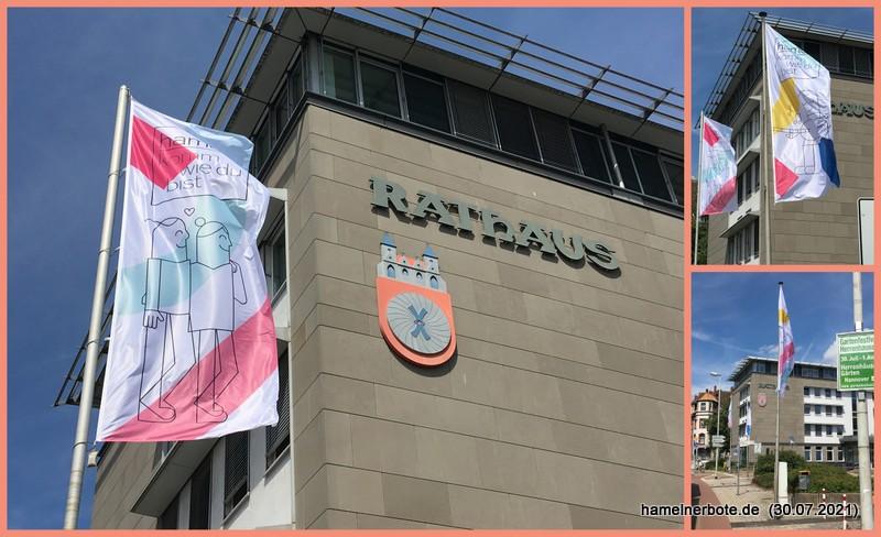 Hamelns neuer Flaggenschmuck