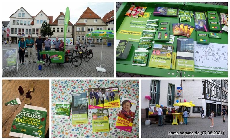 Politischer Samstag in der Fußgängerzone Hameln. Erlebnisbericht: