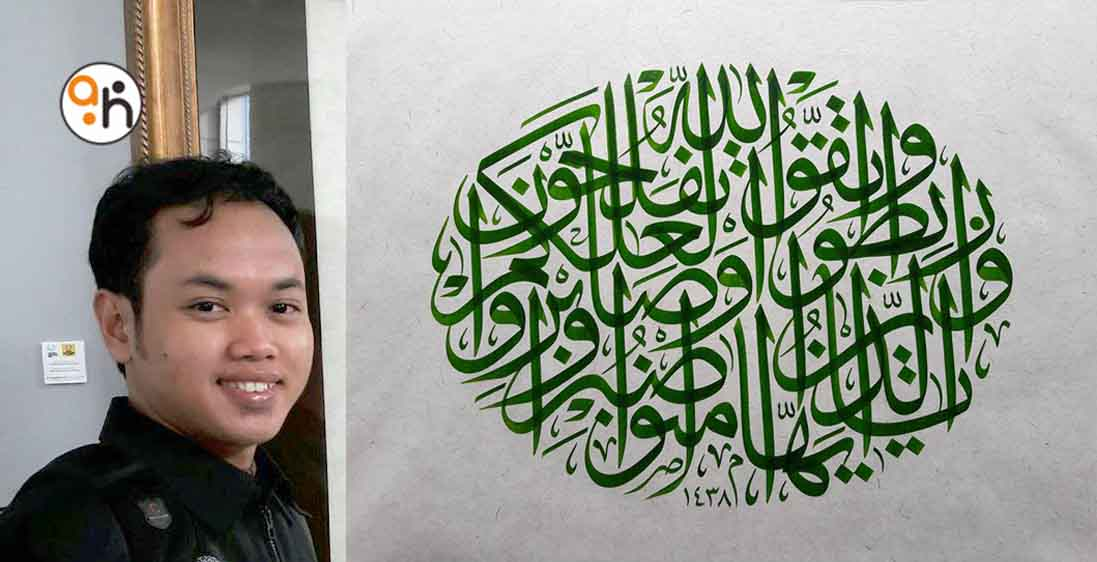 Kaligrafer Indonesia Juara Pertama di Lomba 7tepe7sanat Turki