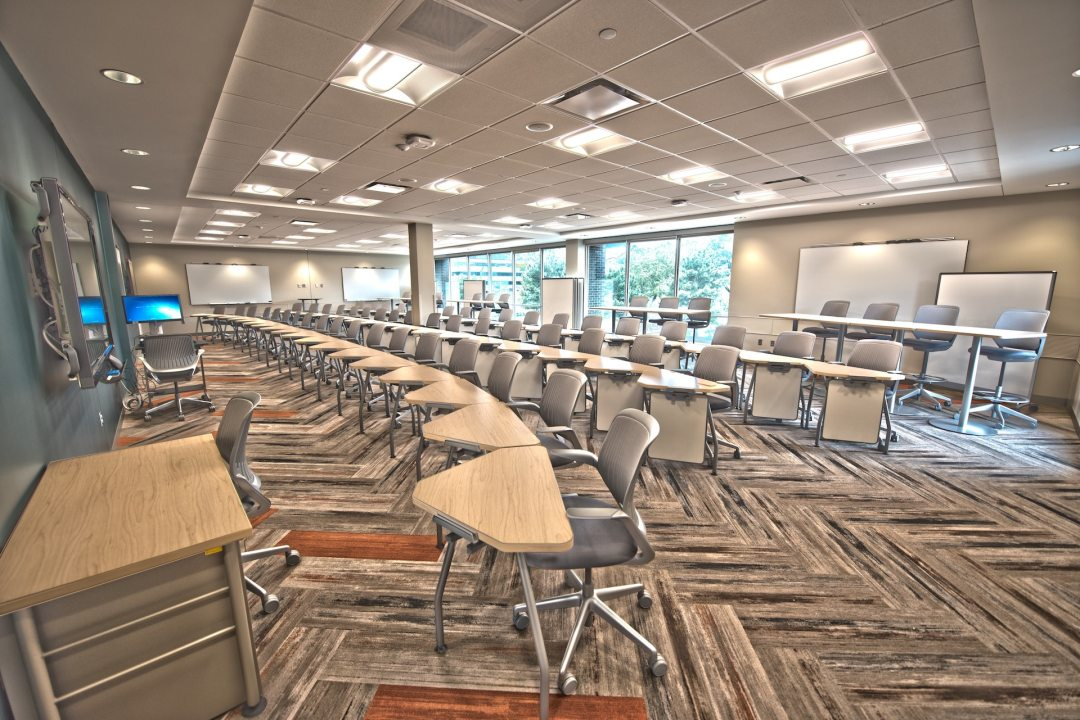 Modern Classroom Full of Chairs