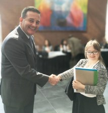 Nineteen-year-old Anne, a recent high school graduate, was greeted by OOD Director Kevin Miller.