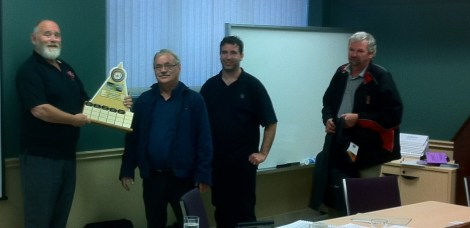 Herbert Peters is awarded Driver of the Year by the Hamilton Niagara chapter