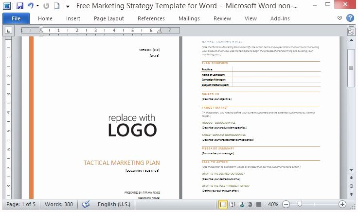 Marketing Plan Powerpoint Template New Free Powerpoint