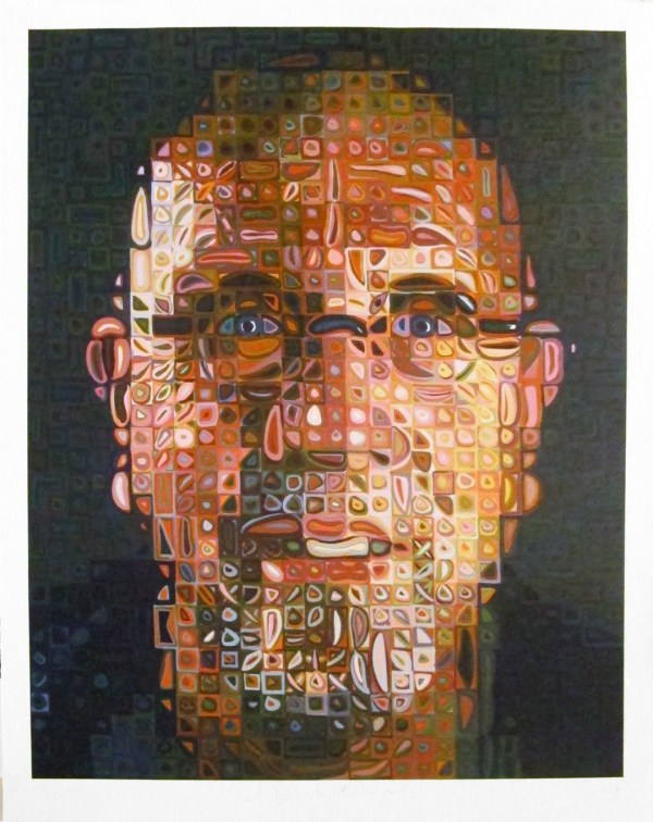 Chuck Close -portrait Screenprint 2012 Hamilton