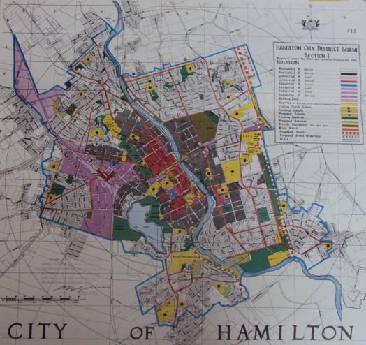 Hamilton zoning map 1960s