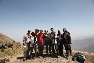 Me, Agere (guide), Steve (US), Dries and Eef (Belgium), Rene (France), Asirse (Scout), Mike and Caroline (US)