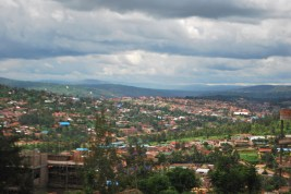 The rolling hills of Kigali