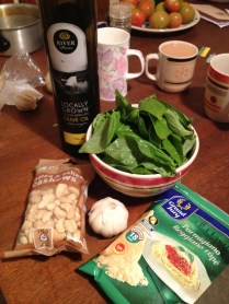 Precious pesto ingredients