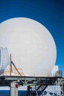 Main satellite dish housing