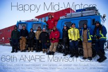 Mawson midwinter greeting