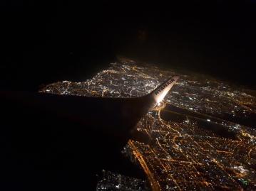כי ככה זה נראה בטיסת לילה