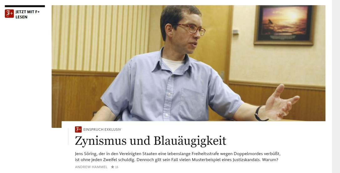 "Jens Soering article: ""Cynicism and Gullibility"""