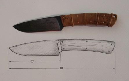 Entwurf für das Wendenmesser