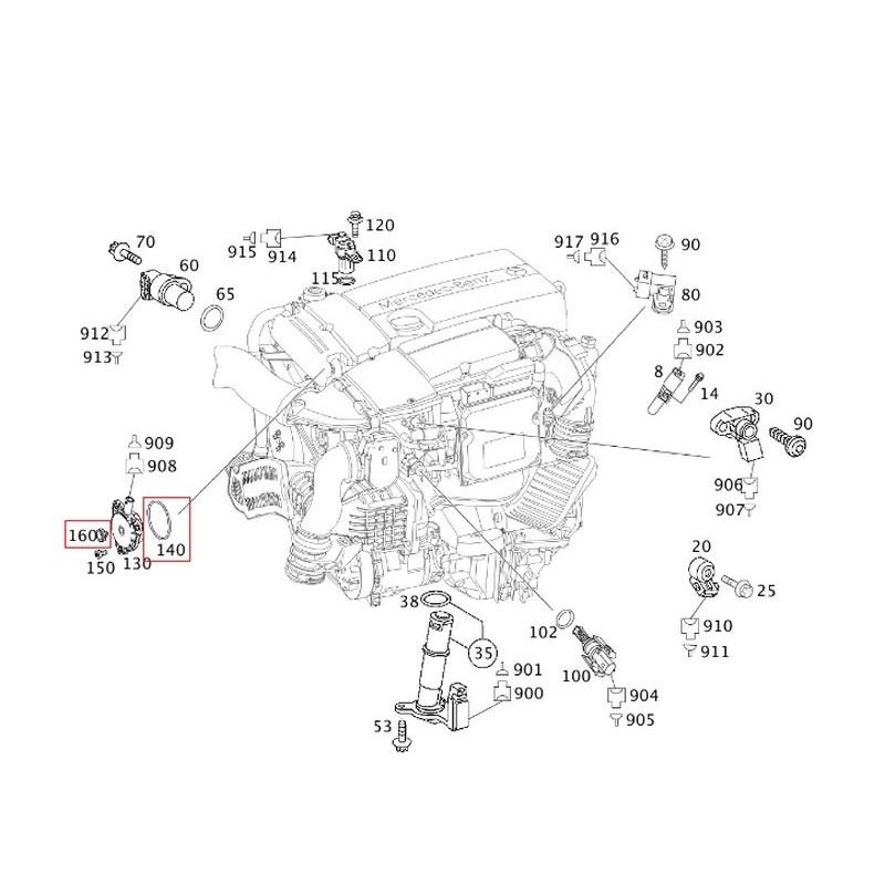 Original Mercedes-Benz Dichtring für Nockenwellenmagnet OM 271