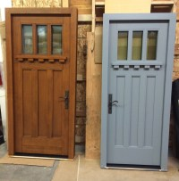 Craftsman Style Passive House Doors Custom Made by H&H