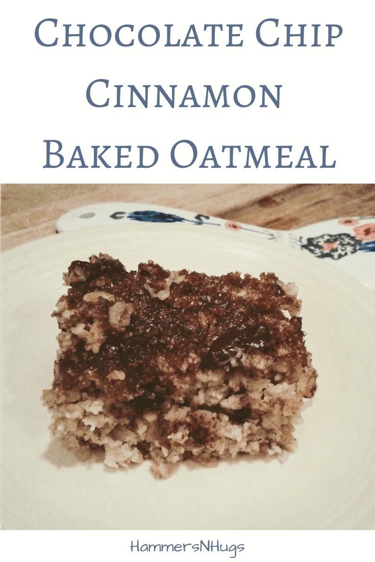 chocolate chip cinnamon baked oatmeal