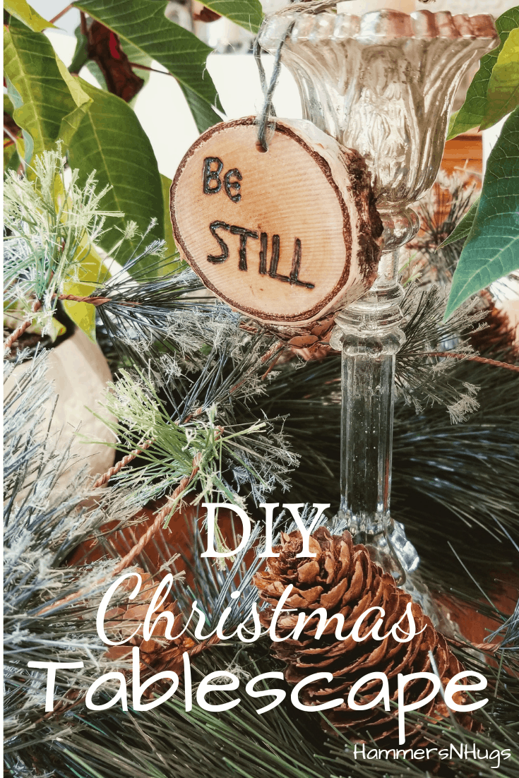 diy christmas tablescape