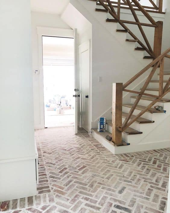 How to Design a Mortar Washed Brick Floor