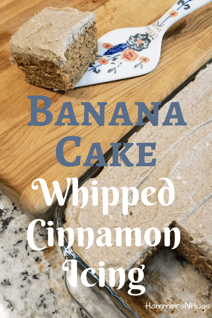 Banana Cake with Whipped Cinnamon Icing Recipe