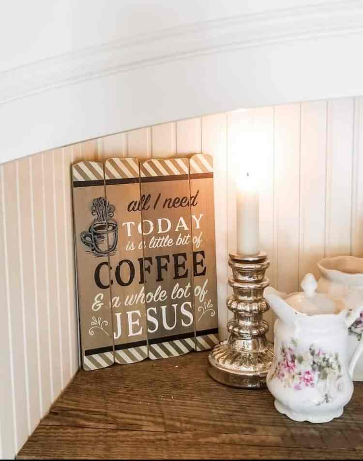 French Country Farmhouse Style Coffee Bar Reveal